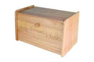 huche à pain carrée en bois