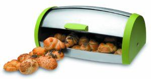 boite à pain Ibili colorée et couvercle inox