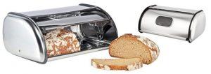 La boite à pain Relaxdays en acier inoxydable