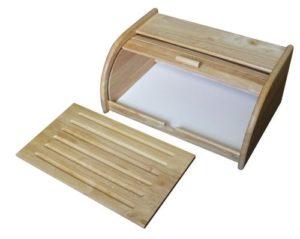 boite à pain en bois avec planche