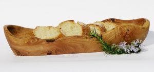 support à pain en bois d'olivier