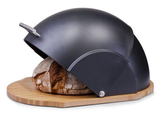 boîte à pain ronde Zeller noir